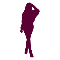 Woman pose silhouette