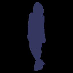 Mujer llevando tacones silueta