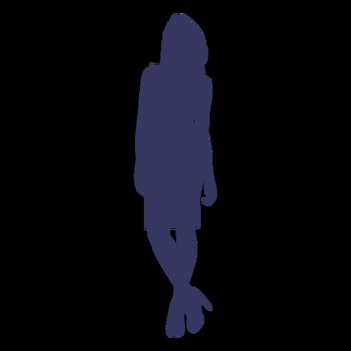 Mujer llevando tacones silueta Transparent PNG