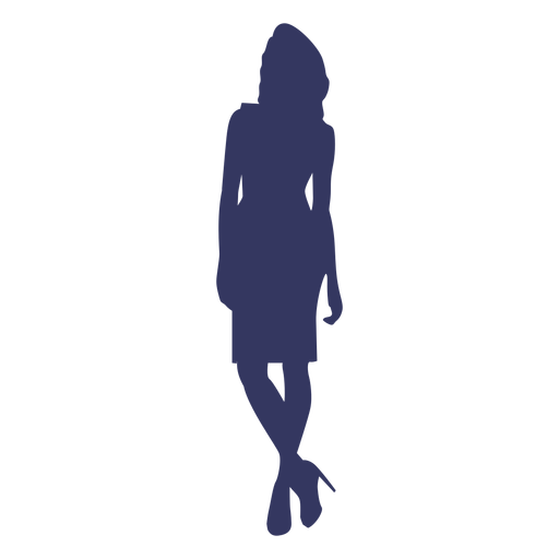 Woman wearing heels silhouette Transparent PNG