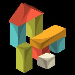 Ilustración de bloques de madera