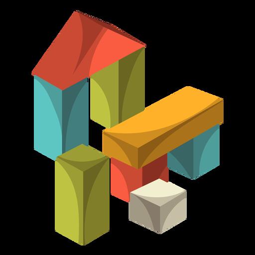 Wooden blocks illustration