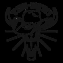 Yee haw insignia de caballo