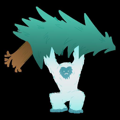Yeti lifting tree