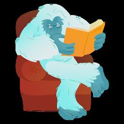 Yeti reading book