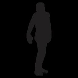 Zombie man silhouette