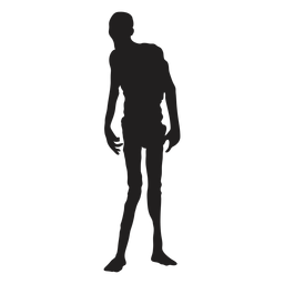 Zombie standing silhouette zombie