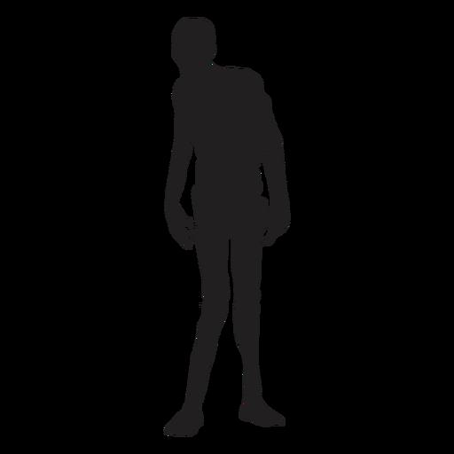 Zumbi em pé silhueta zumbi