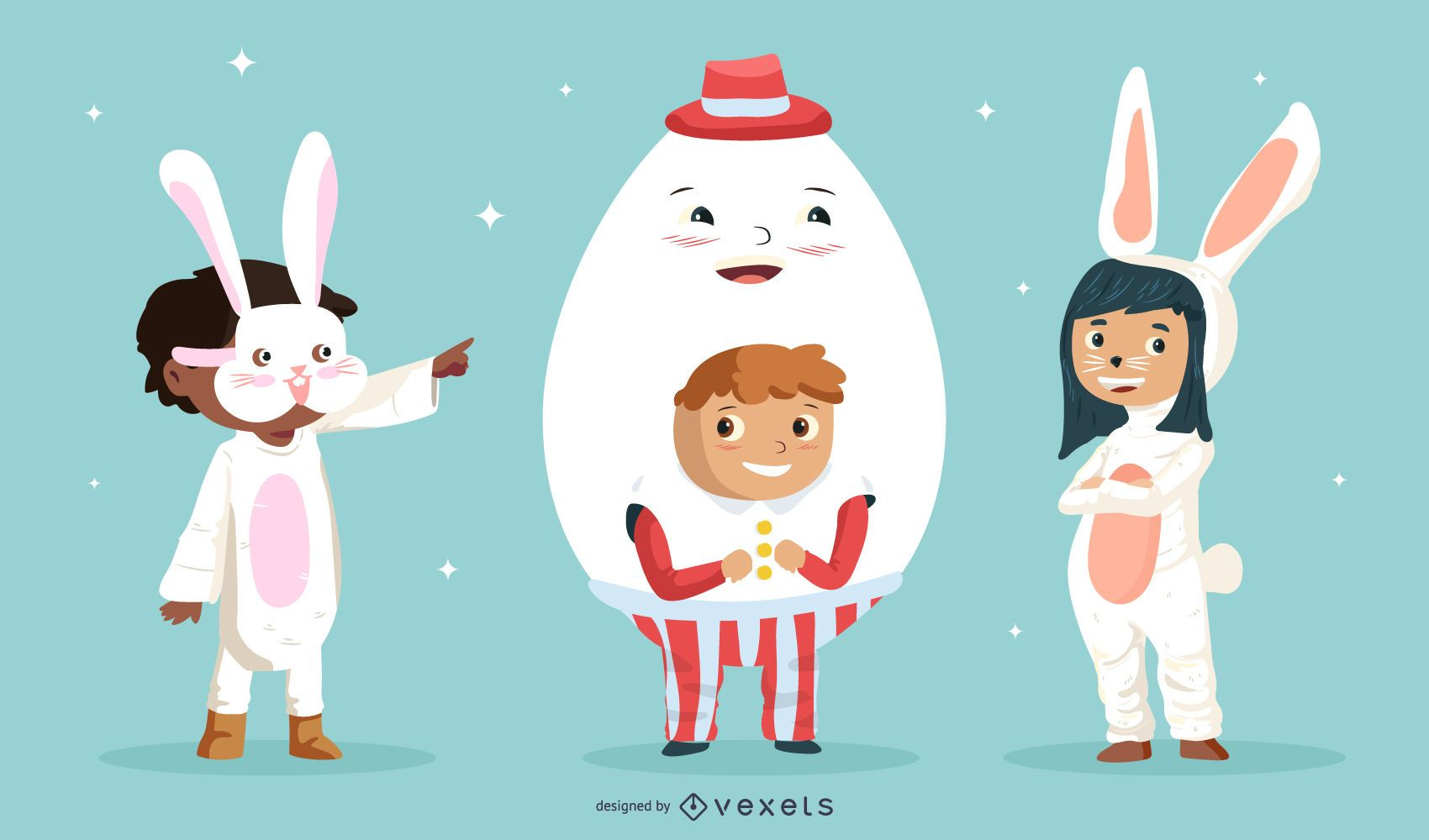 Easter Day Kids Character Pack