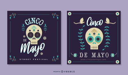 Cinco de Mayo Skull Banner Pack
