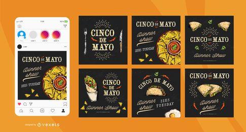 Paquete de publicaciones sociales de la Plaza del Cinco de Mayo