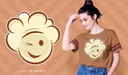 Smiling Popcorn T-shirt Design