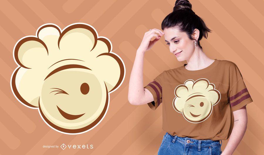 Diseño de camiseta sonriente de palomitas de maíz