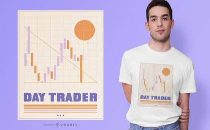 Dia comerciante Finanças Design de t-shirt