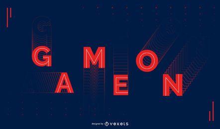 Spiel auf Sport Zitat Design