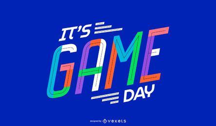 Design de citação do dia do jogo