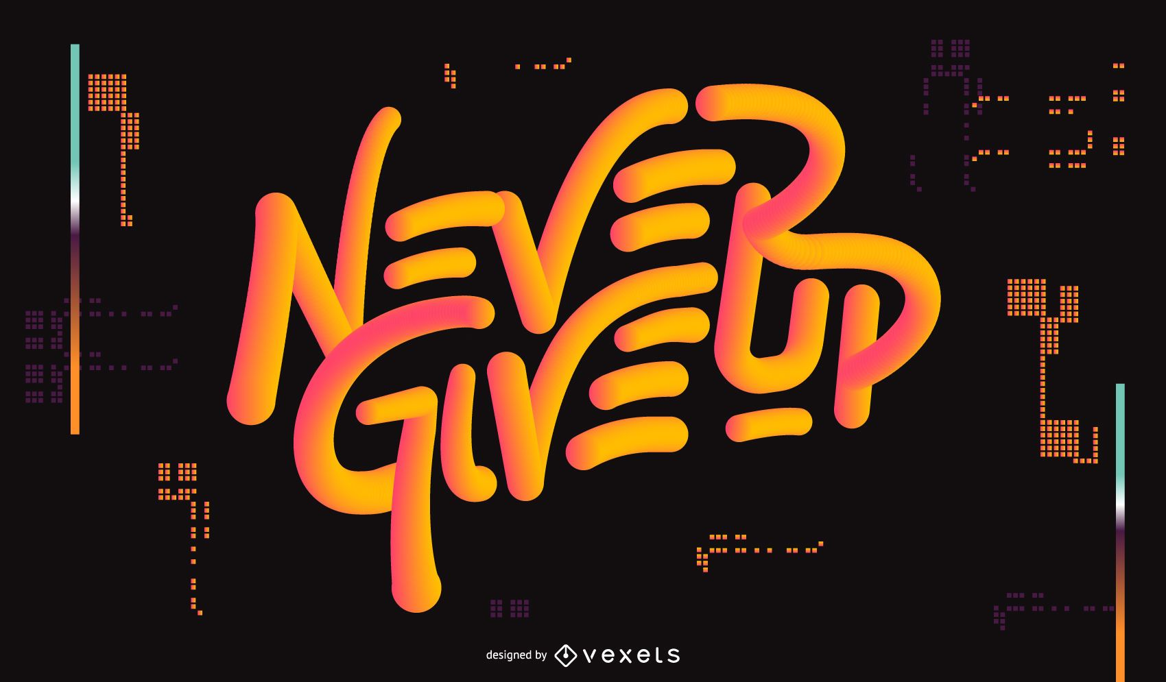 Diseño de cotización deportiva Never Give Up