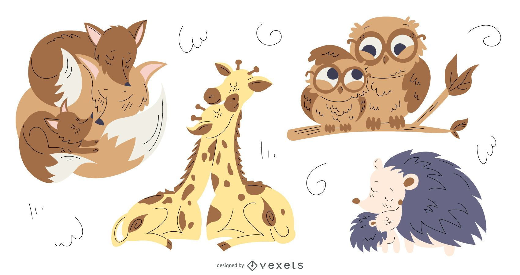 Animal Moms Illustration Pack