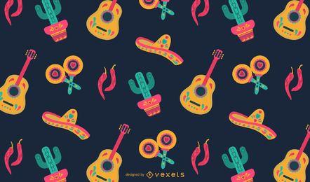 Design padrão mexicano plana