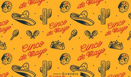 Cinco de mayo mexicano padrão