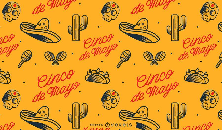 Patrón mexicano del cinco de mayo