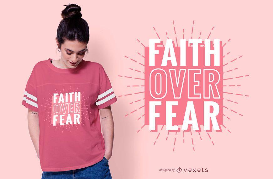 Fé sobre o design do t-shirt das citações do medo