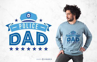 Diseño de camiseta Police Dad