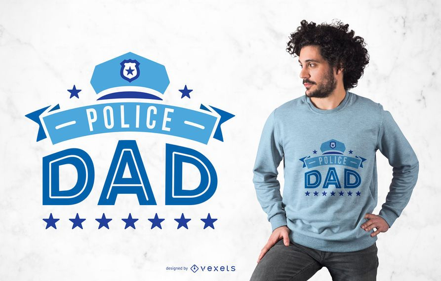 Police Dad T-shirt Design