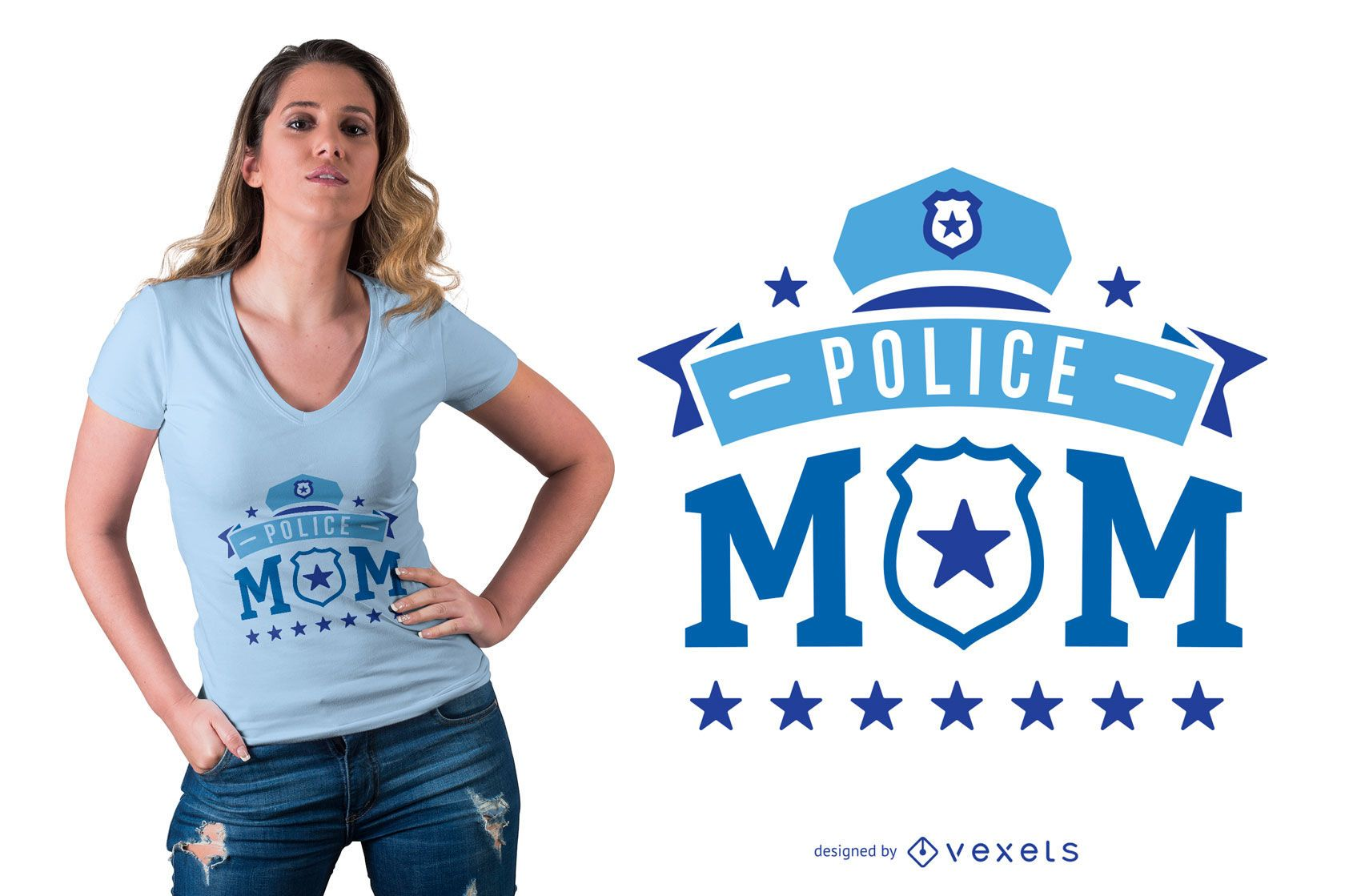 Police Mom Quote T-shirt Design