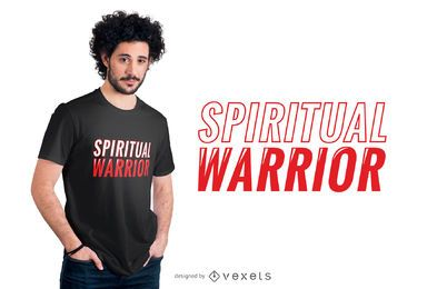 Spiritual Warrior Quote T-shirt Design