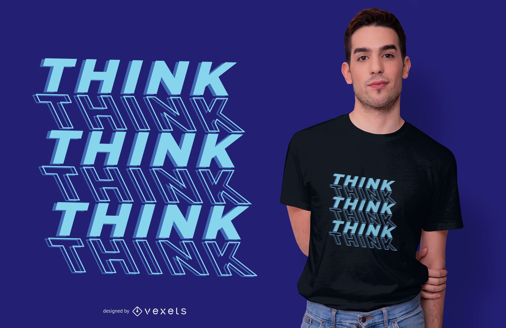 Think Quote T-shirt Design