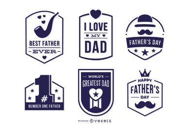 Conjunto de insignias del día del padre