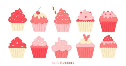 Set plano de cupcakes
