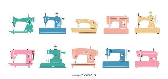 Coleção de máquinas de costura plana