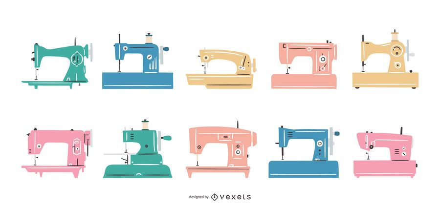Flat sewing machines collection