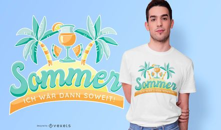 Diseño de camiseta Summer German Quote