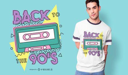 Diseño de camiseta retro de regreso a los 90