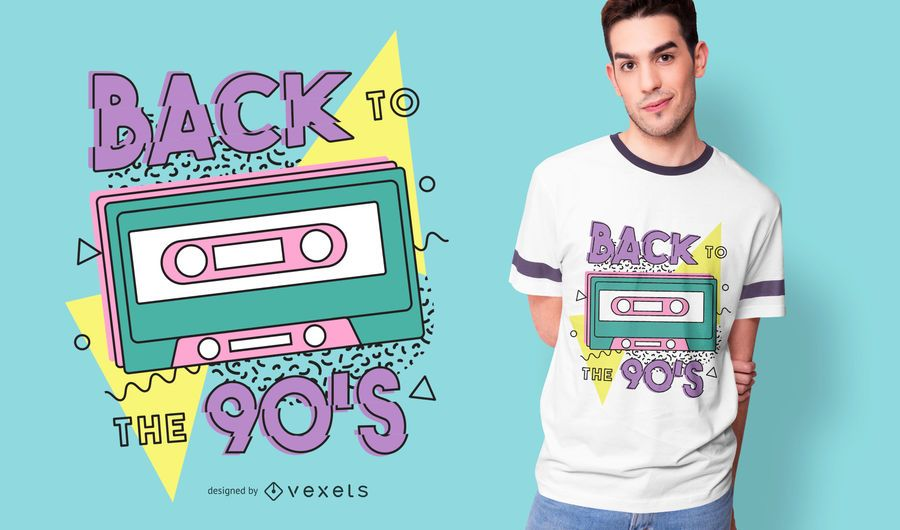Diseño de camiseta retro Back To The 90s