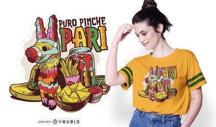 Design de camiseta de festa mexicana