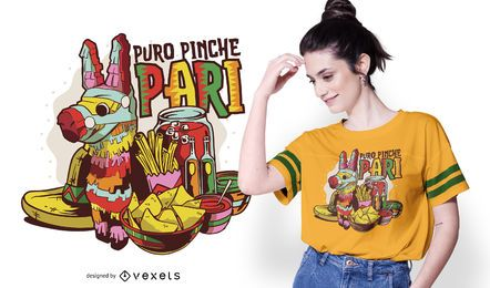 Mexikanisches Party-T-Shirt Design