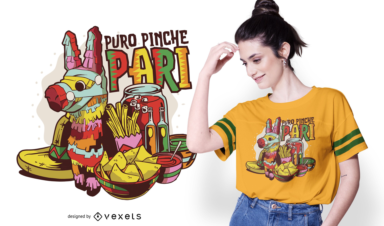 Diseño de camiseta de fiesta mexicana