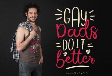 Diseño de camiseta de papás gay