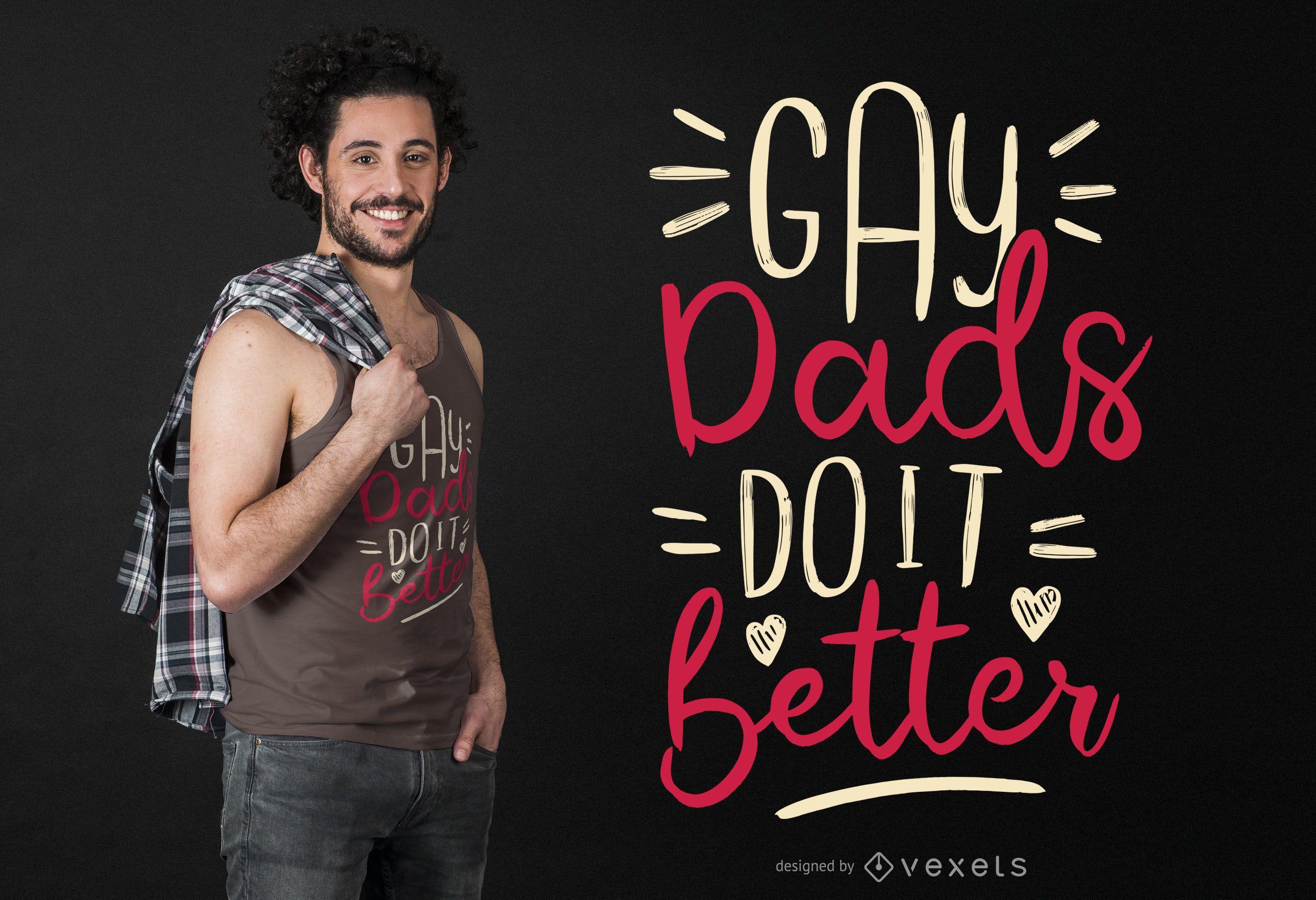 Dise?o de camiseta de pap? gay