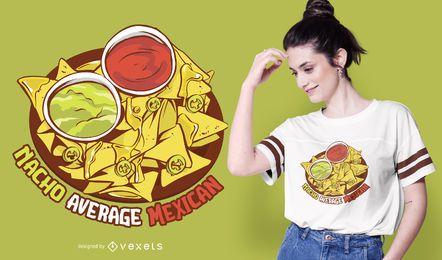 Diseño de camiseta mexicana promedio de Nacho
