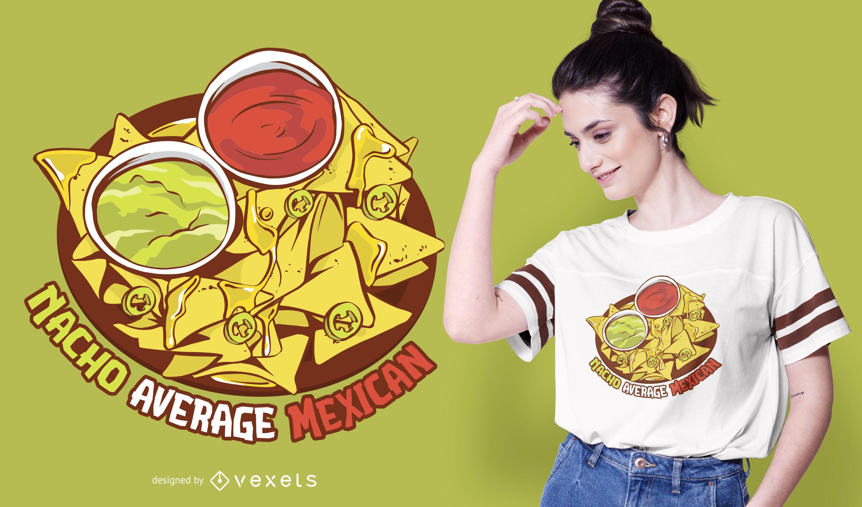 Nacho durchschnittliches mexikanisches T-Shirt Design