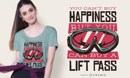 Design de t-shirt de citação de passe de elevador
