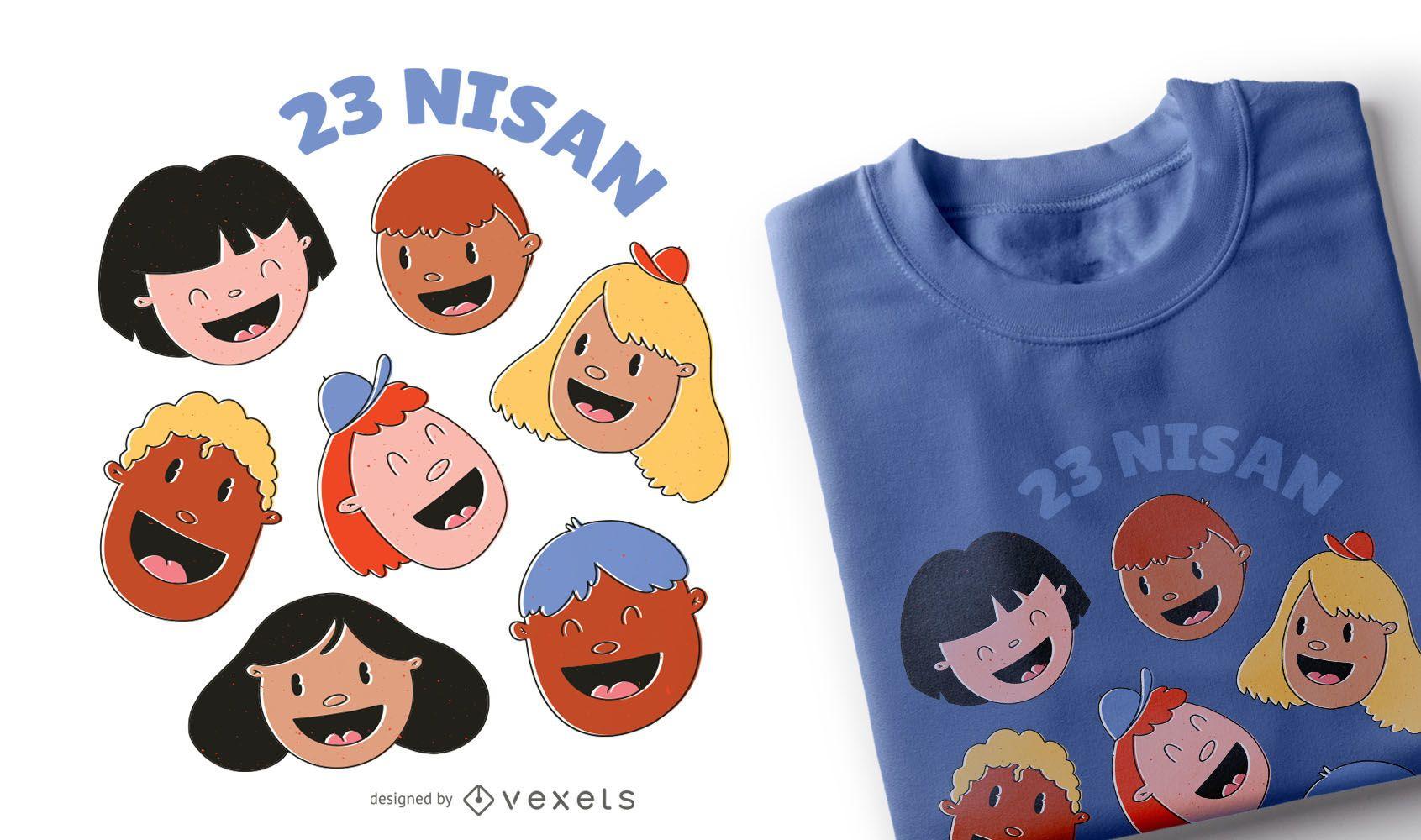 Dise?o de camiseta del d?a del ni?o.