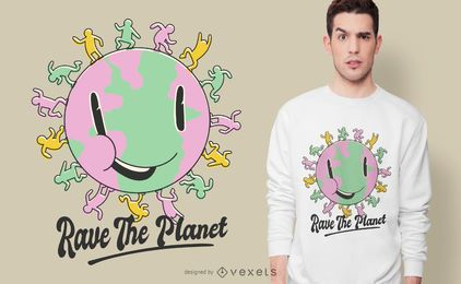 Rave das Planet T-Shirt Design