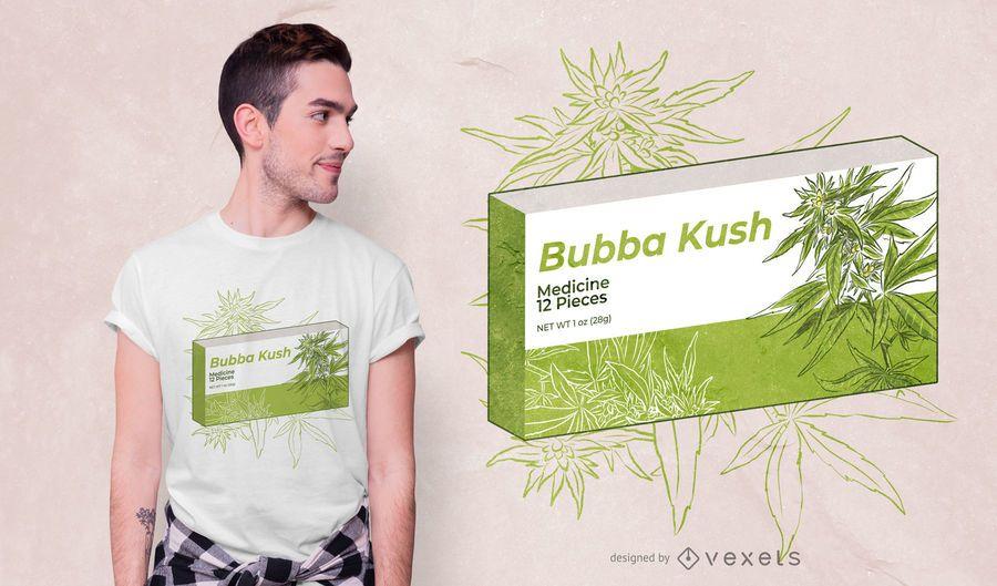 Diseño de camiseta Bubba Kush