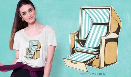 Diseño de camiseta de silla de playa.